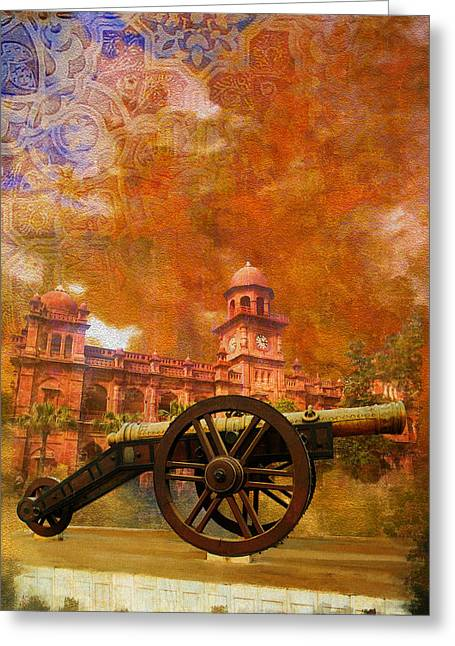 Pakistan Greeting Cards - Zamzama Tope or Kims Gun Greeting Card by Catf