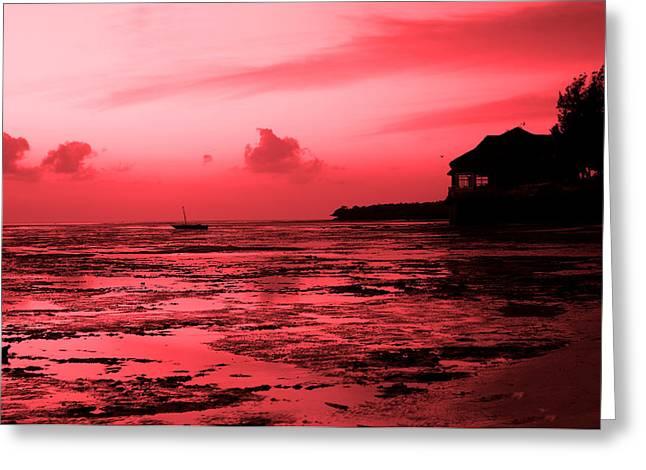Zanzibar Sunrise Greeting Card by Aidan Moran
