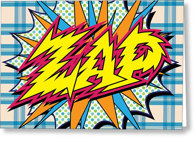 Zap Greeting Card by Gary Grayson