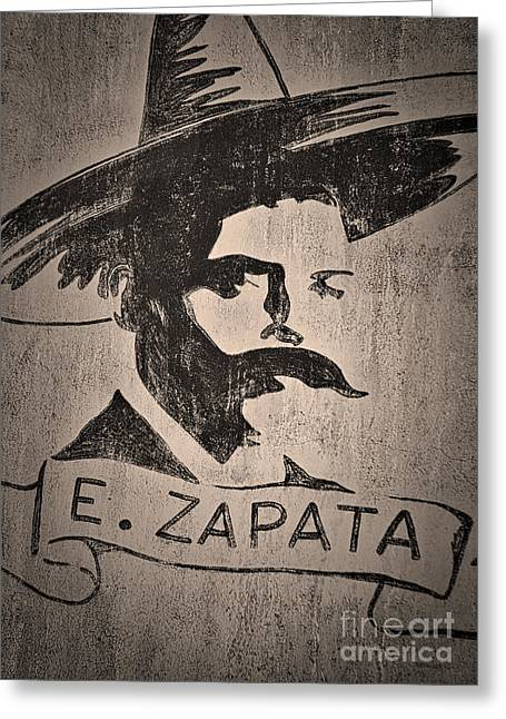 Emiliano Greeting Cards - Zapata  ... Greeting Card by Chuck Caramella