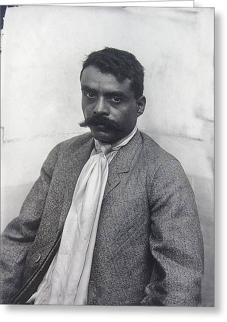 Zapata Greeting Cards - Zapata portrait  no known Mexico location or date-2013 Greeting Card by David Lee Guss