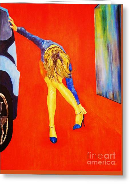 Painted In Paris Greeting Cards - Zapatos 3 Greeting Card by Dagmar Helbig