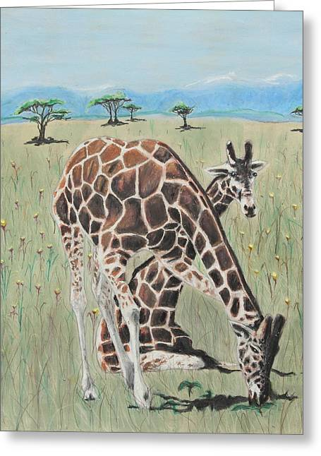 Exotic Pastels Greeting Cards - Zawadi And Sweta Greeting Card by Jeanne Fischer