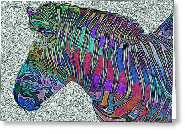 Social Herd Animals Greeting Cards - Zebra 2- Happened At The Zoo  Greeting Card by Jack Zulli
