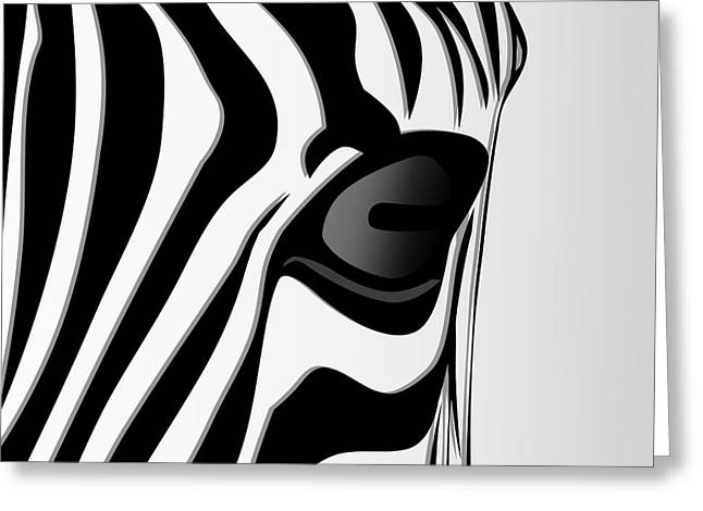 Zebra 3 Greeting Card by Mark Ashkenazi