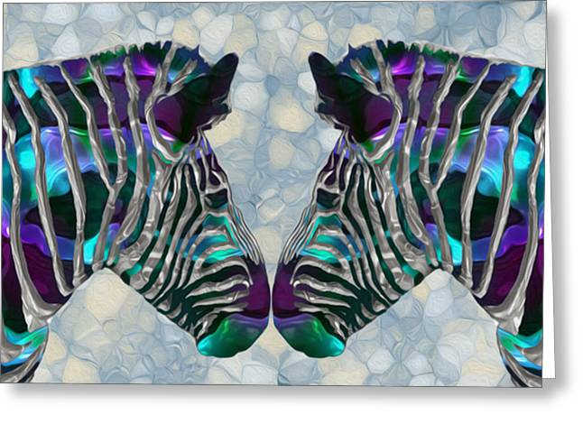 Zebra 5 Greeting Card by Jack Zulli