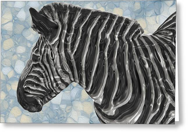 Social Herd Animals Greeting Cards - Zebra 6 Greeting Card by Jack Zulli