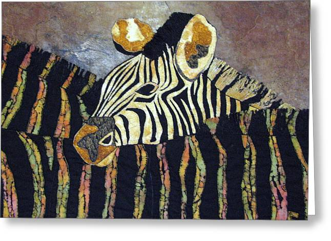 Zebra Baby Greeting Card by Lynda K Boardman