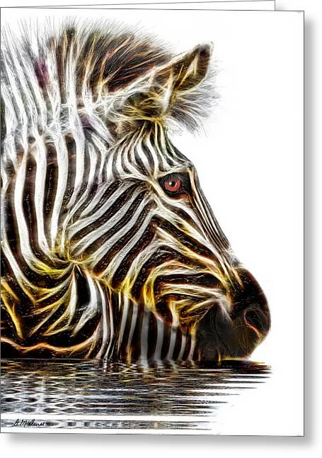 Africa Mixed Media Greeting Cards - Zebra Crossing Greeting Card by Michael Durst