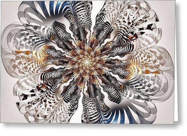 Hypnotizing Greeting Cards - Zebra Flower Greeting Card by Anastasiya Malakhova