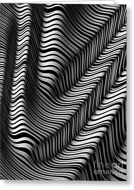 Abstract Shapes Greeting Cards - Zebra Folds Greeting Card by John Edwards