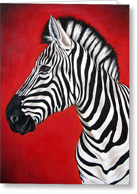 Zebra Greeting Card by Ilse Kleyn