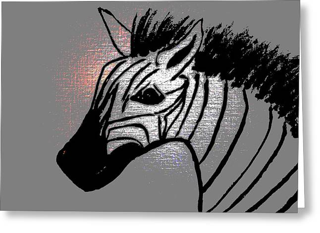 Animals Love Greeting Cards - Zebra Life Greeting Card by Erica  Darknell
