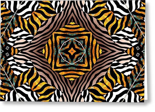 Zebra Mandala Greeting Card by Joseph J Stevens