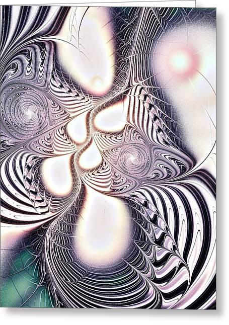 Zebra Phantasm Greeting Card by Anastasiya Malakhova