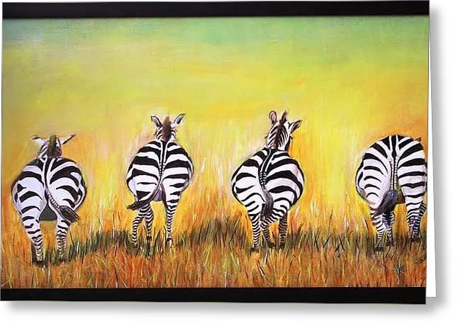 Zebra Greeting Card by Sadhna Tiwari