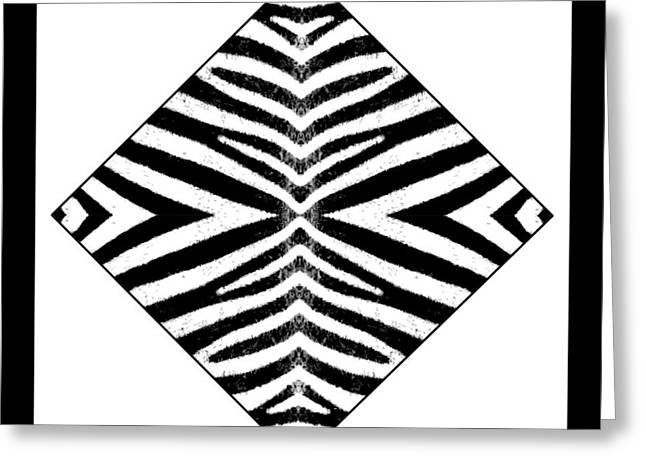 Zebra Skin Greeting Card by Roberto Alamino