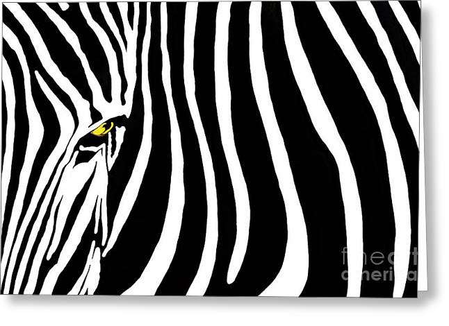 Safari Prints Greeting Cards - Zebra Stripes Two gfx Greeting Card by Dan Holm