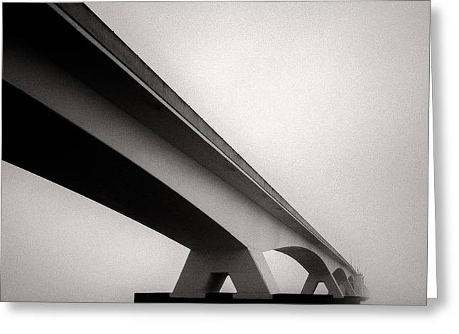 Ocean Art Photography Greeting Cards - Zeelandbrug 2 Greeting Card by Dave Bowman