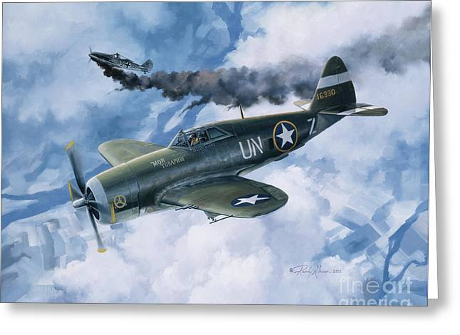 Biplane Greeting Cards - Zemkes Thunder Greeting Card by Randy Green