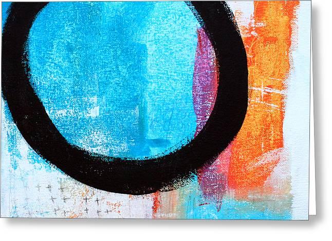 Orange Greeting Cards - Zen Abstract #32 Greeting Card by Linda Woods