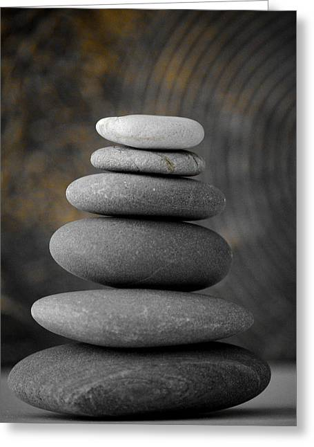 Balance Greeting Cards - Zen Balance Greeting Card by Riad Belhimer