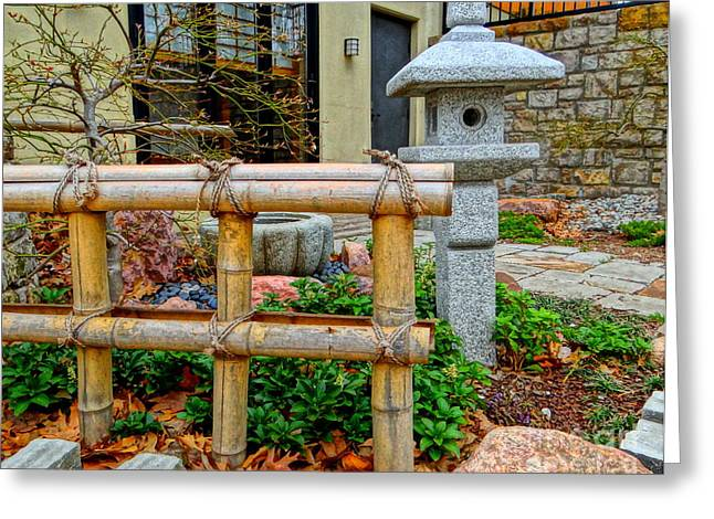 Bamboo Fence Greeting Cards - Zen Greeting Card by Christina Vaughan