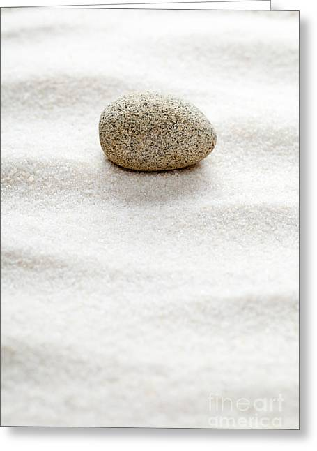 Calm Sculptures Greeting Cards - Zen concept Greeting Card by Shawn Hempel