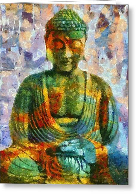 Gautama Greeting Cards - Zen Greeting Card by Dan Sproul