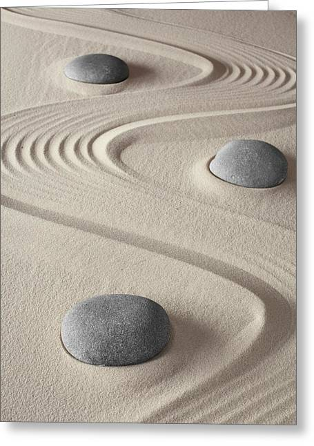 Concentration Greeting Cards - Zen Garden Greeting Card by Dirk Ercken
