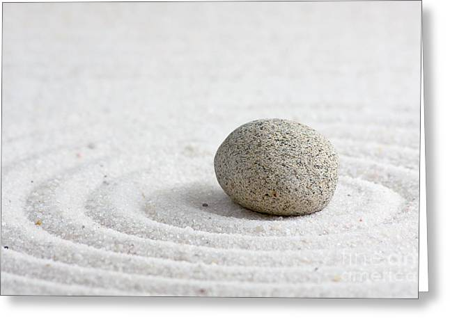 Tranquil Sculptures Greeting Cards - Zen garden Greeting Card by Shawn Hempel
