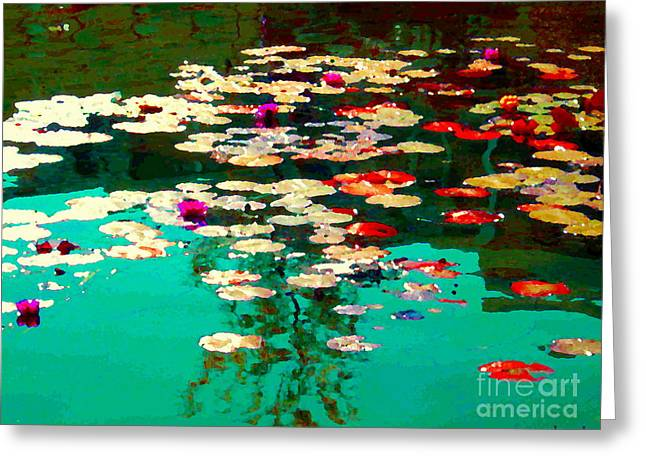 Hommage Greeting Cards - Zen Garden Water Lilies Pond Serenity And Beauty Lily Pads At The Lake Waterscene Art Carole Spandau Greeting Card by Carole Spandau