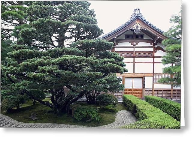 Bamboo House Photographs Greeting Cards - Zen Priests Quarters - Kyoto Japan Greeting Card by Daniel Hagerman