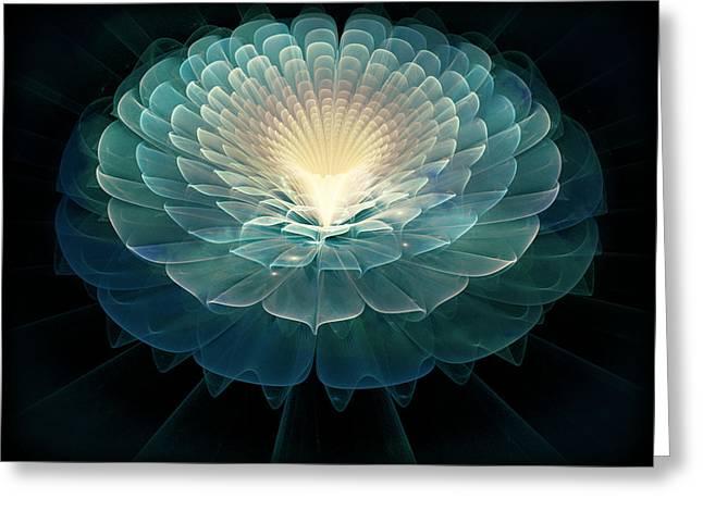 Zen Greeting Card by Rhonda Barrett