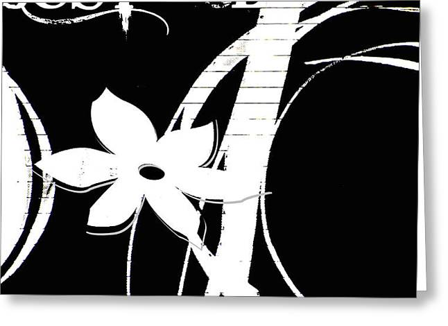 Zen Ribbons Greeting Card by Anahi DeCanio