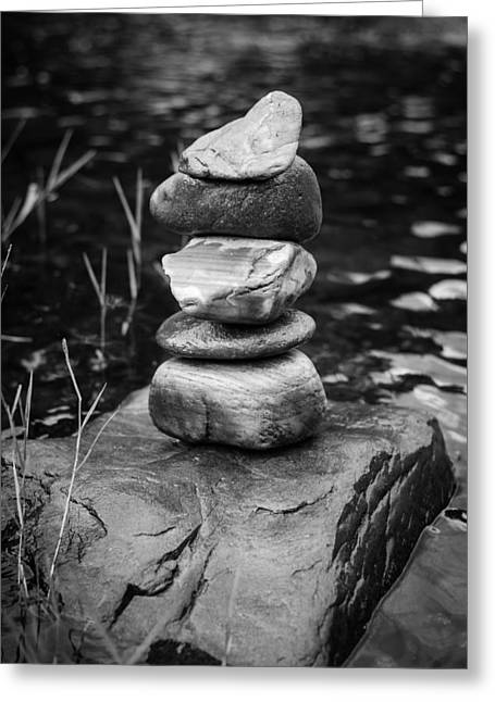 Best Sellers -  - Mystic Setting Greeting Cards - Zen River VII Greeting Card by Marco Oliveira