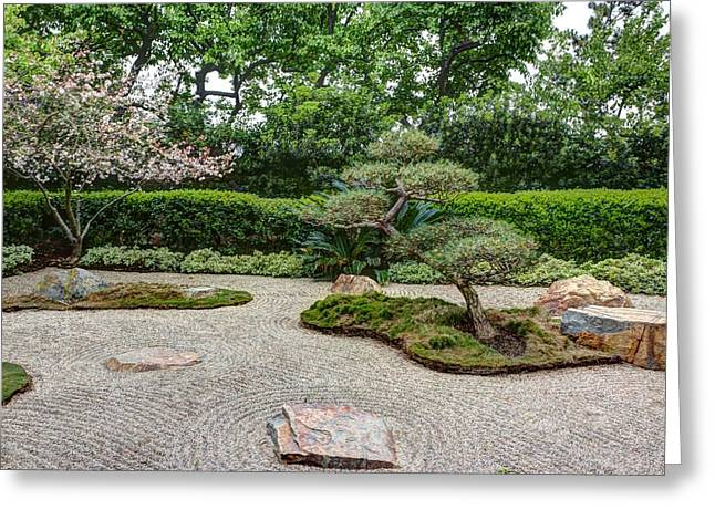 Concentration Greeting Cards - Zen Rock Garden Greeting Card by Heidi Smith