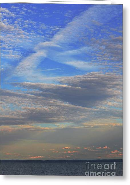 Seacape Greeting Cards - Zen Skies Abstract Greeting Card by AdSpice Studios