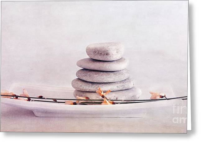 Stack Greeting Cards - ZEN still life Greeting Card by Priska Wettstein