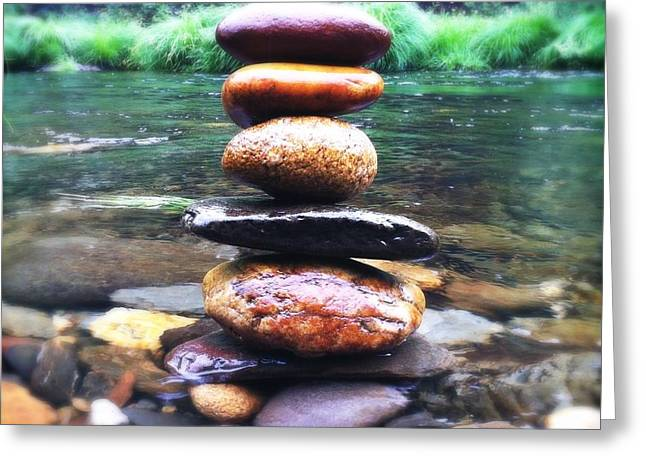 Metaphorical Greeting Cards - Zen Stones II Greeting Card by Marco Oliveira
