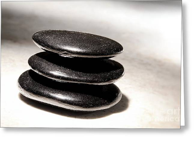 Zen Stones Greeting Card by Olivier Le Queinec