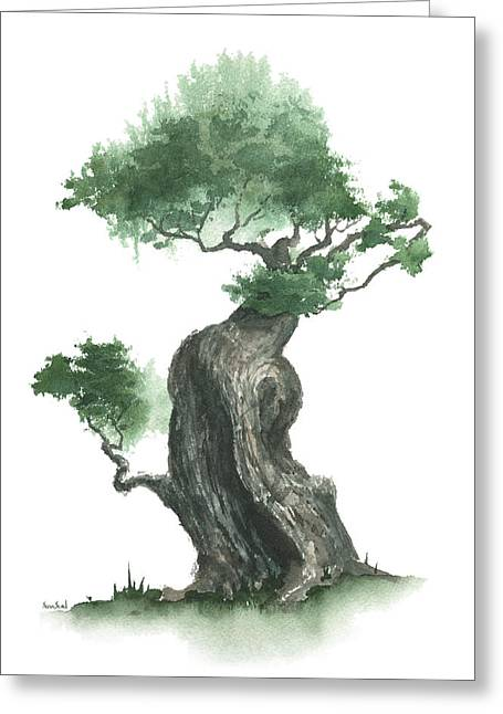 Sean Seal Greeting Cards - Zen Tree 1000 Greeting Card by Sean Seal