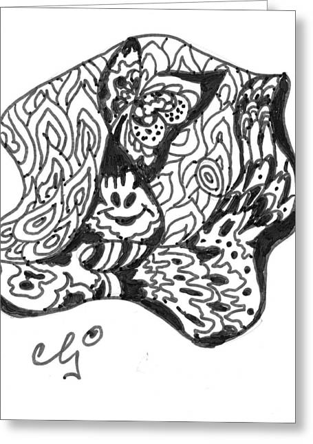 Zenoodle Dos Greeting Card by Cris Johnson