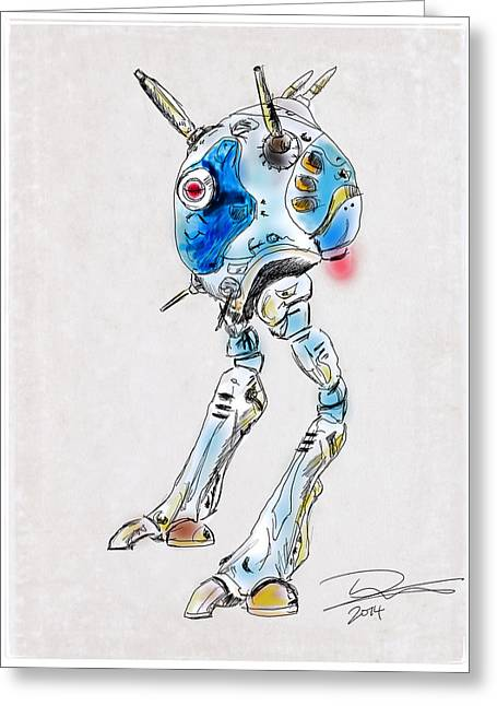 Animation Drawings Greeting Cards - Zentraedi Battle Pod Greeting Card by Tim Nichols