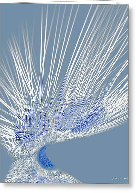 Best Sellers -  - Generative Abstract Greeting Cards - Zephyr Greeting Card by Judi Suni Hall