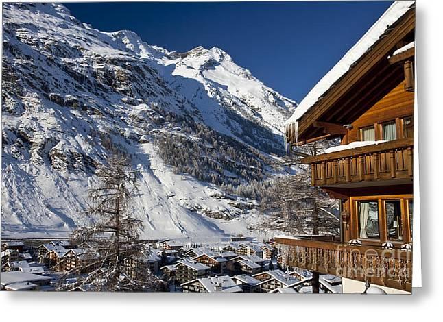 Zermatt Greeting Cards - Zermatt Greeting Card by Brian Jannsen