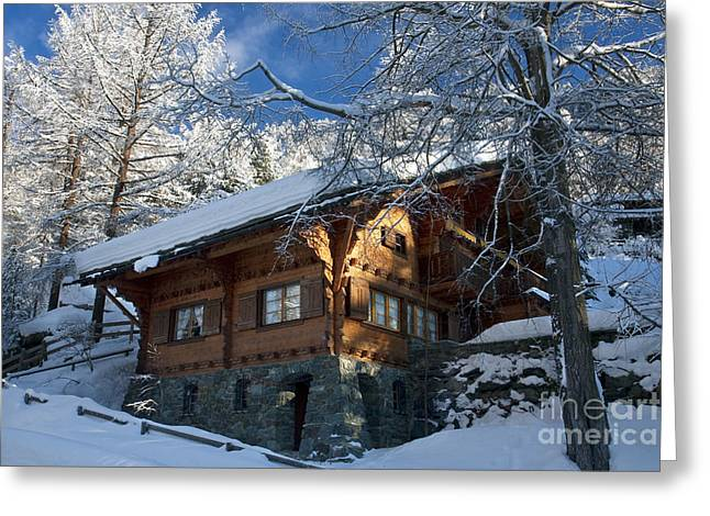 Zermatt Chalet Greeting Card by Brian Jannsen