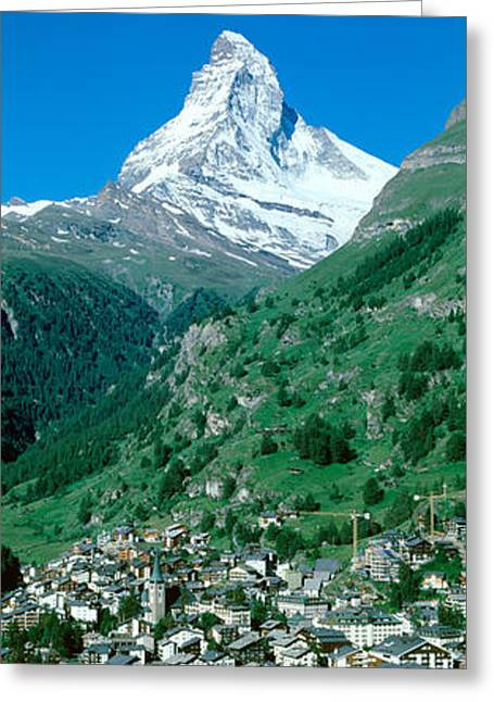 Incline Photographs Greeting Cards - Zermatt, Switzerland Greeting Card by Panoramic Images