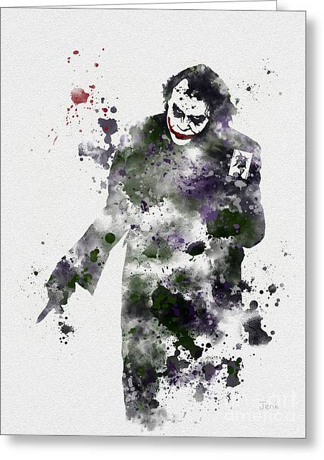 Batman Mixed Media Greeting Cards - Zero Empathy Greeting Card by Rebecca Jenkins