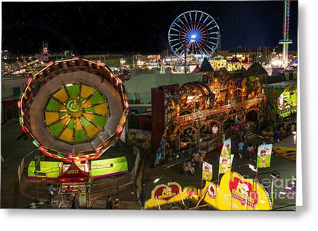 Arizona State Fair Greeting Cards - Zero Gravity Greeting Card by Van Allen Photography